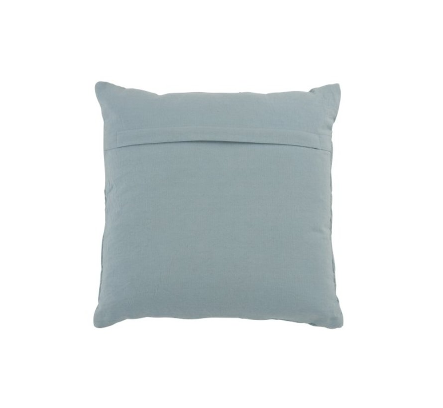 Cushion Square Cotton Embroidery Patterns - Light Blue