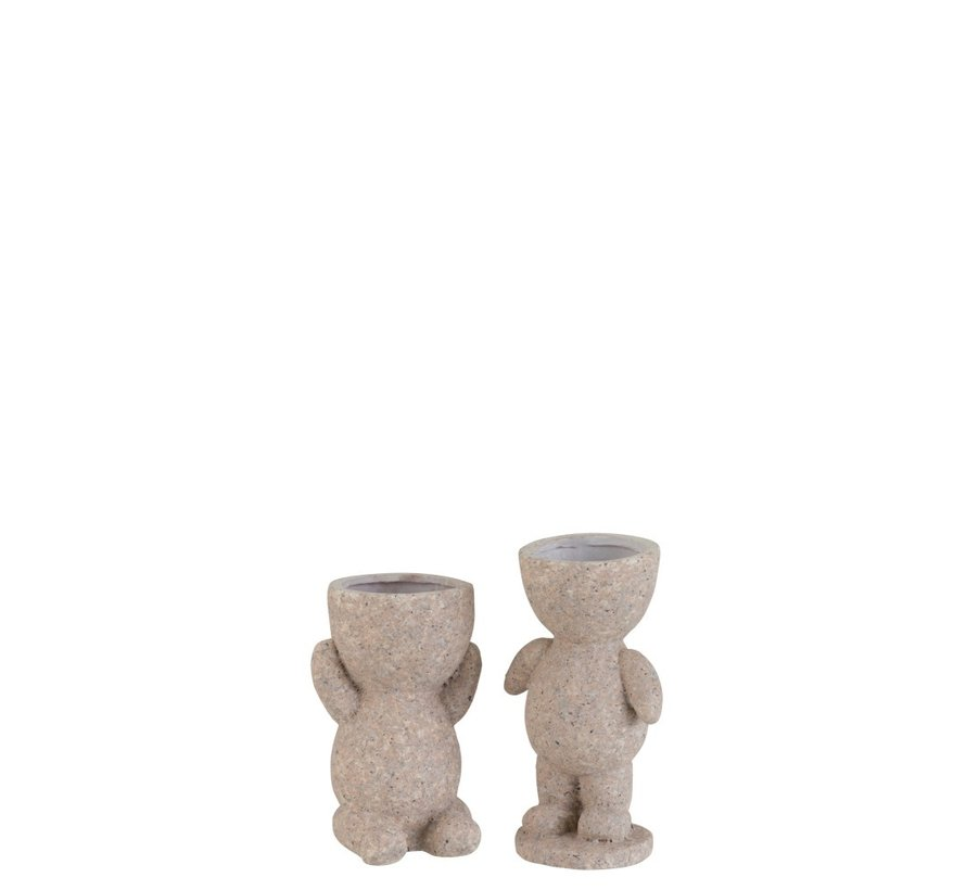 Bloempot Figuur Magnesium Poly Beige - Small