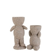 J -Line Bloempot Figuur Magnesium Poly Beige - Large