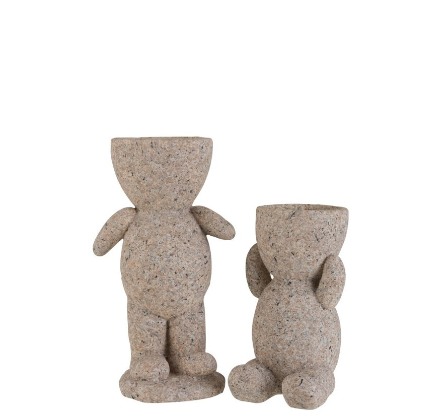 Bloempot Figuur Magnesium Poly Beige - Large