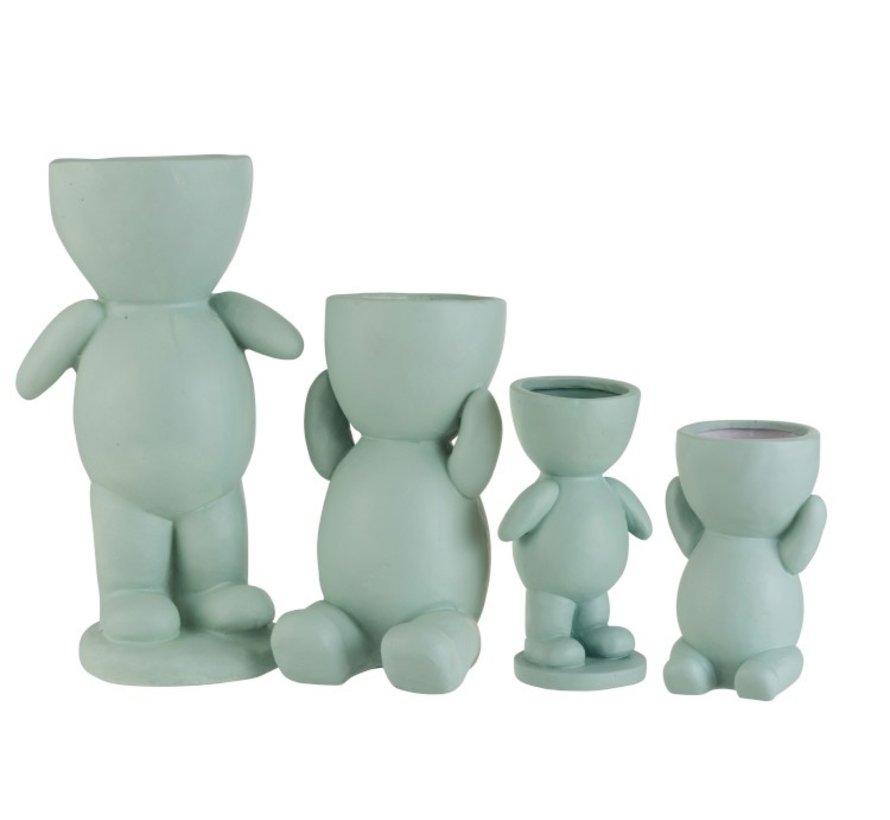 Flowerpot Figure Ceramic Light Green - Small