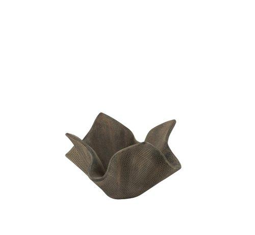 J -Line Bloempot Open Poly Magnesium Grijs - Small