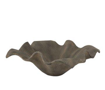 J -Line Flowerpot Open Flat Poly Magnesium Gray - Large