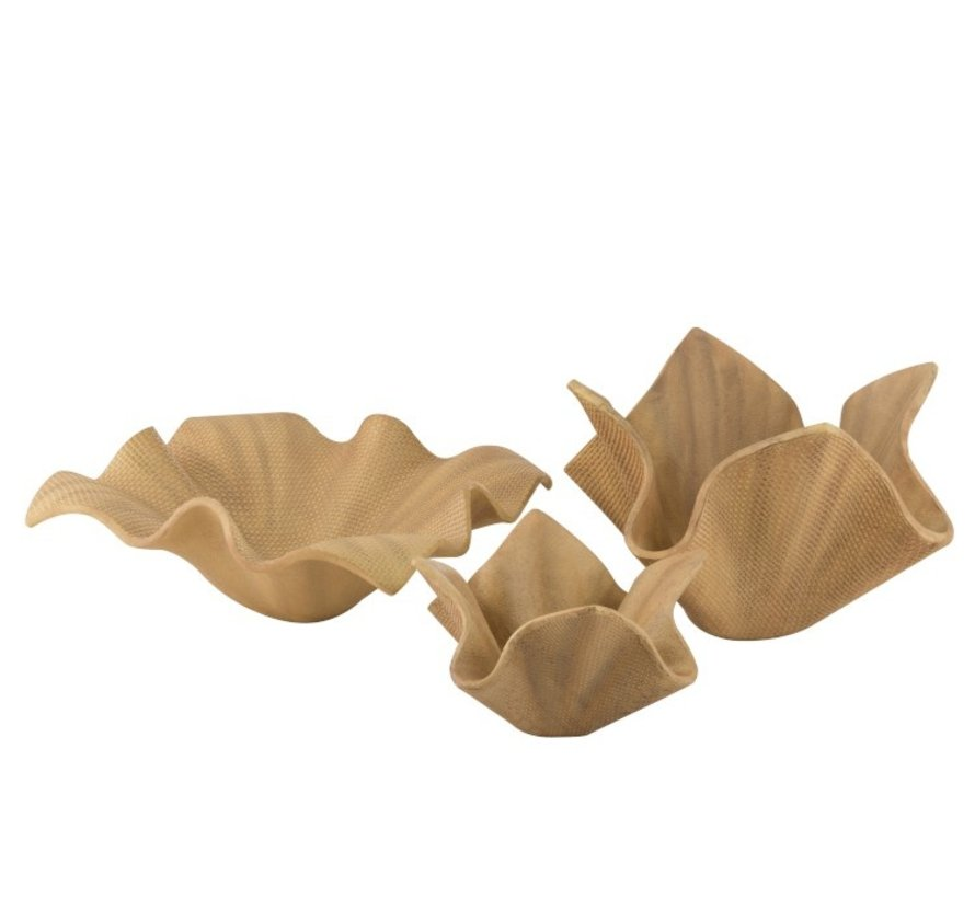 Flowerpot Open Flat Poly Magnesium Natural - Large
