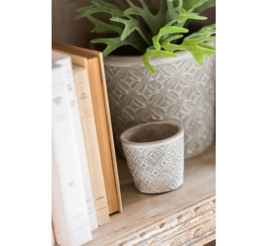 Flowerpot Oriental ceramic Gray - Extra Small