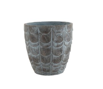 J -Line Flowerpot Scales ceramic Blue Gray - Large