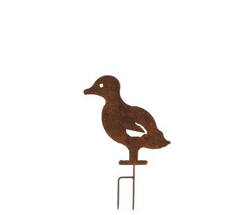 J -Line Garden decoration Chick Ironwork Flat - Rust