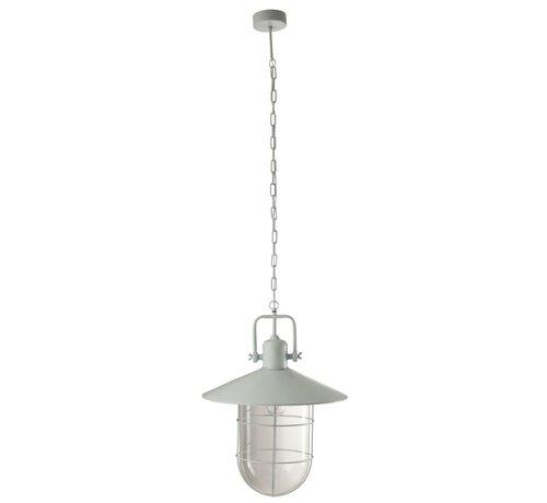 J -Line Hanglamp Metaal Ketting Industrieel Kap - Lichtblauw