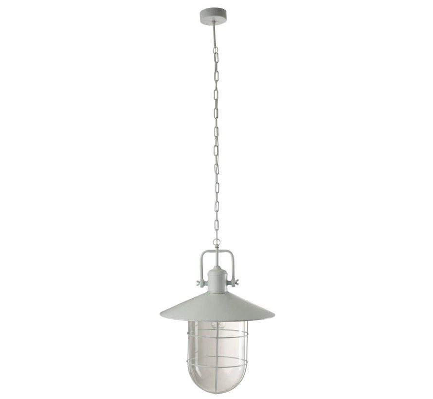 Hanglamp Metaal Ketting Industrieel Kap - Lichtblauw