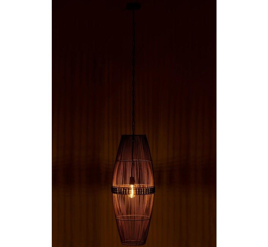 Hanglamp Bamboo Kralen Natuurlijk - Bruin