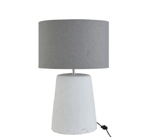 J -Line Table lamp with shade Braided Concrete White Gray - Large