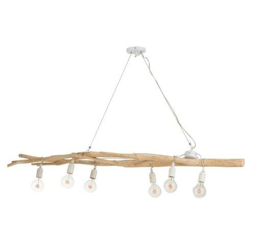 J -Line Hanglamp Drijfhout Takken Natuurlijk Bruin - Wit