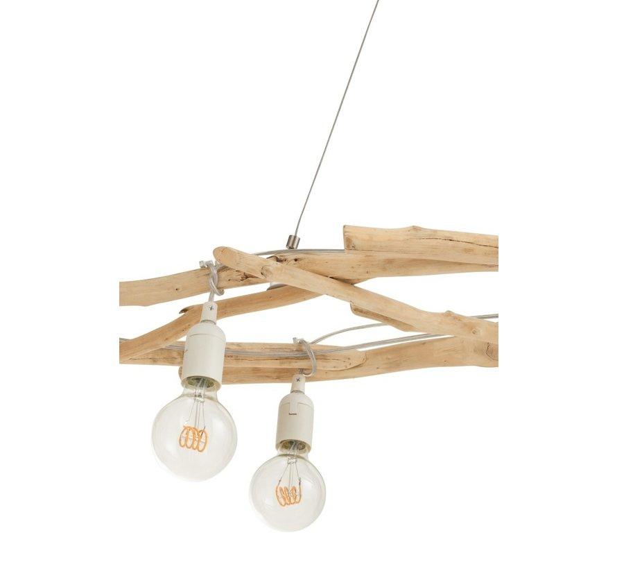 Hanglamp Drijfhout Takken Natuurlijk Bruin - Wit