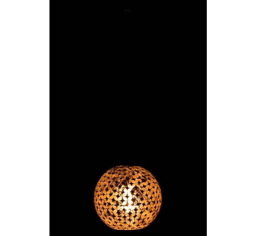 Hanging lamp Glass Metal Mosaic Shiny - Silver