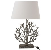 J -Line Table lamp Coral Lampshade Poly Gray - White