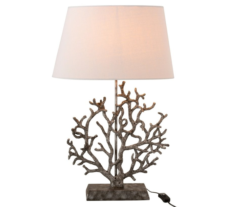 Table lamp Coral Lampshade Poly Gray - White