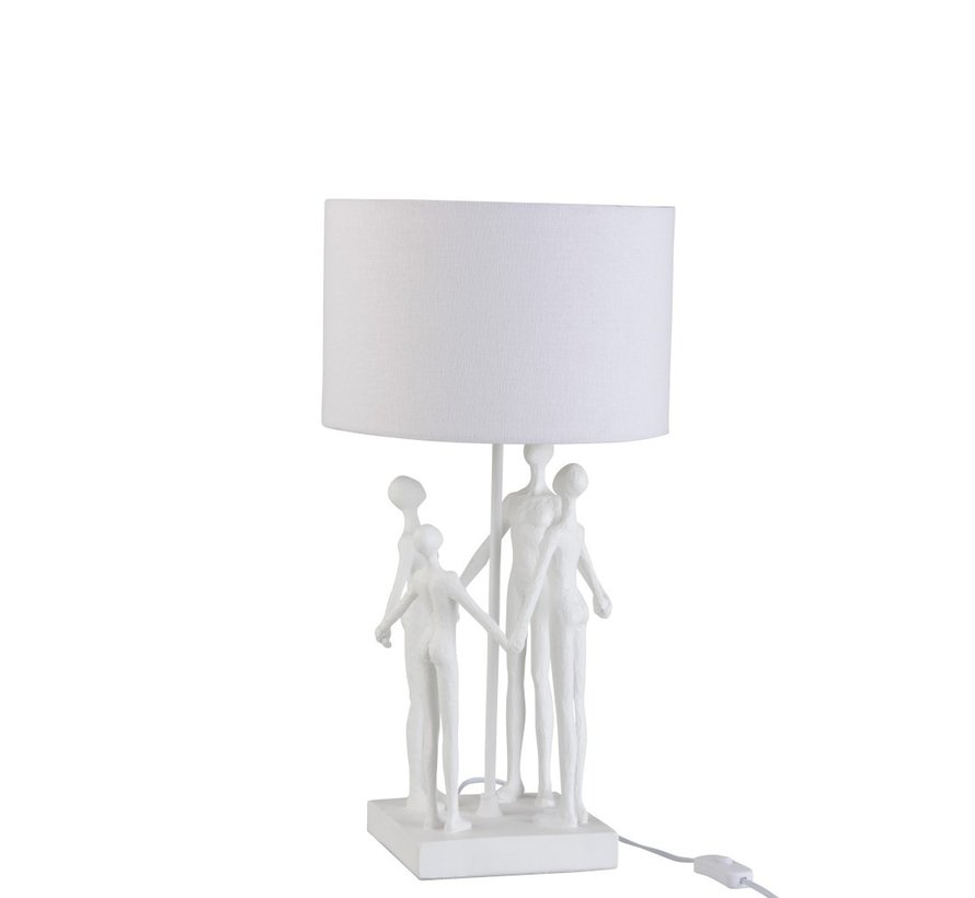 Table lamp Family Circle Textile Poly - White