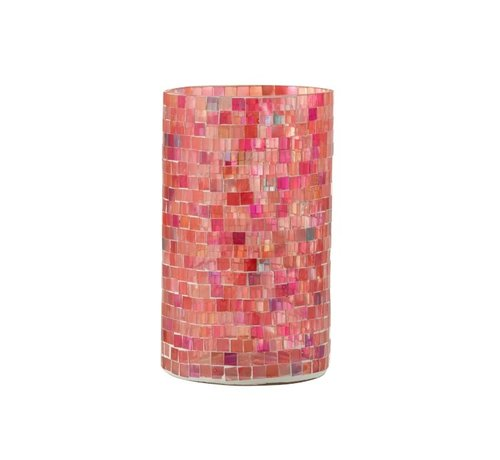 J -Line Tealight holders Glass Mosaic Mix Pink - Large