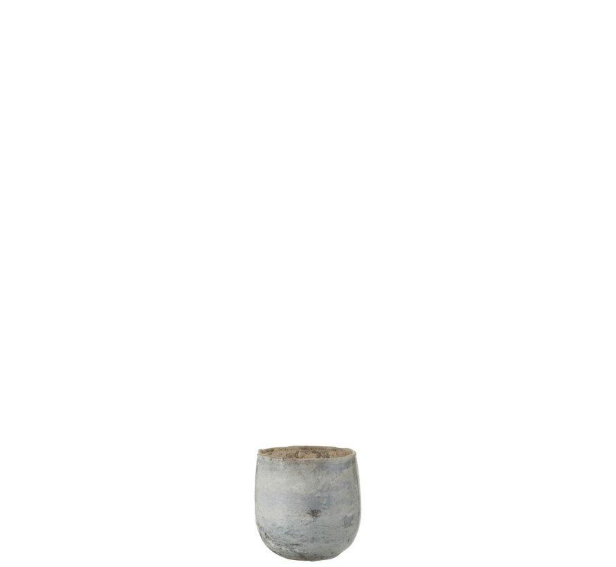 Theelichthouders Glas Marmer Grijs - Small