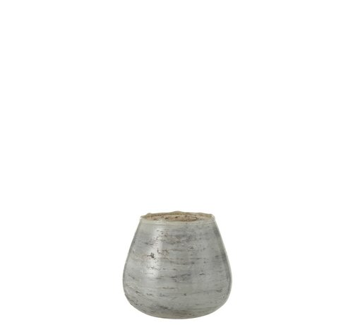 J -Line Theelichthouders Glas Marmer Grijs - Medium