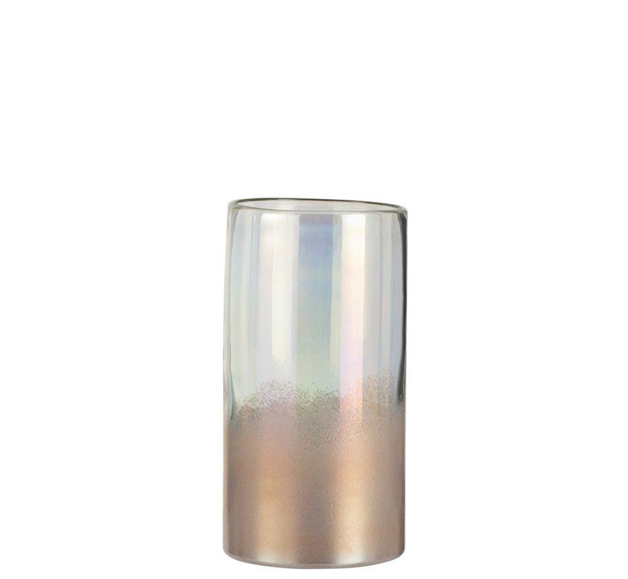 Vase Cylinder High Glass Bright Pink - Medium