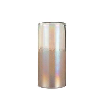J -Line Vase Cylinder High Glass Bright Pink - Large