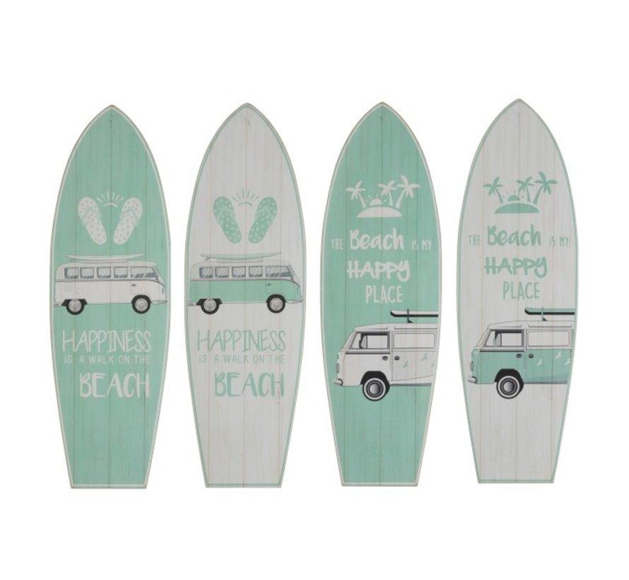 Decoratie Borden Hout Surfplanken Minibus - Mix Groen