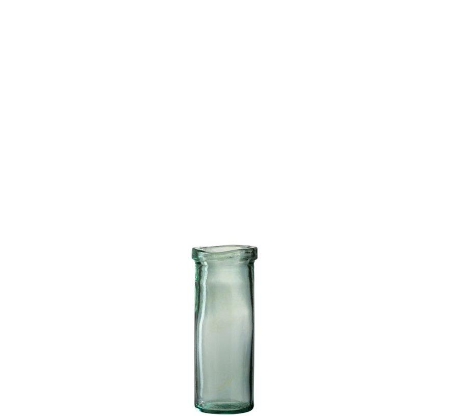 Vaas Glas Cilinder Boord Transparant Groen - Medium