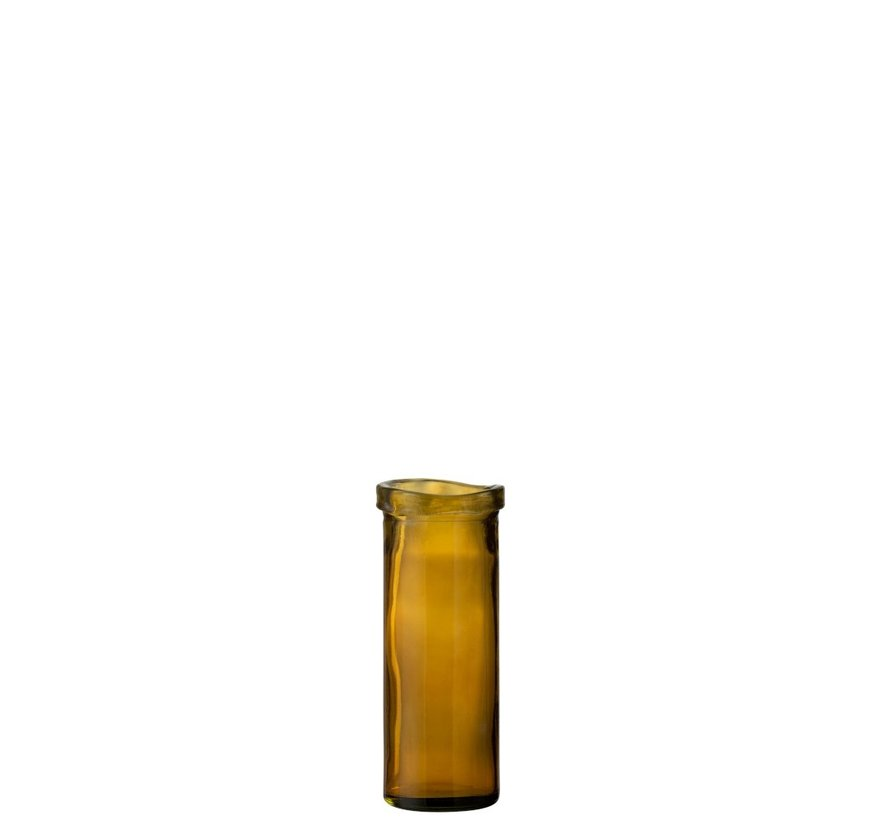 Vaas Glas Cilinder Boord Transparant Oker - Medium