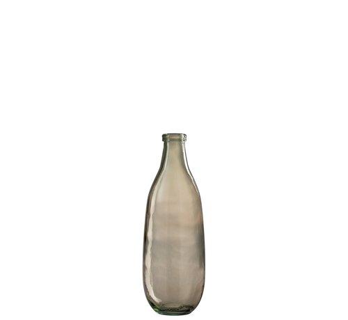 J -Line Bottles Vase Glass Transparent Light Brown - Small