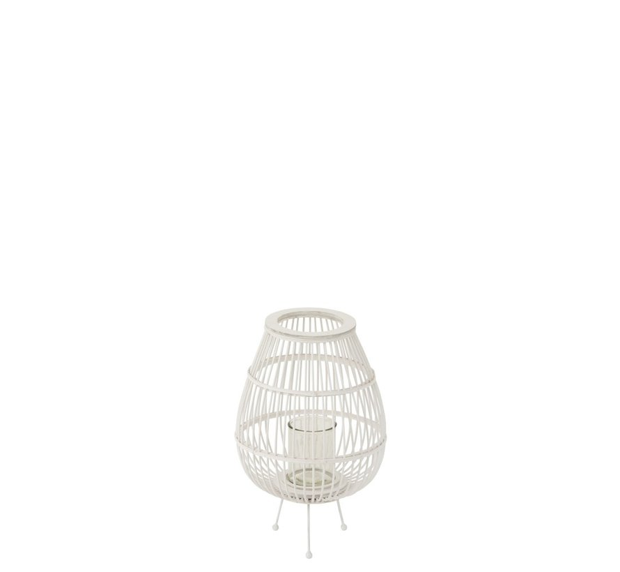 Egg Chair Afmetingen.Lantern Rustic On Foot Bamboo Glass White Small Sl