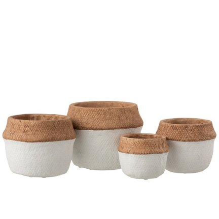 Exclusive terracotta and ceramic flower pots