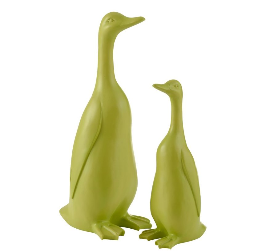 Decoration Duck Standing Polyester Bright Green - Small