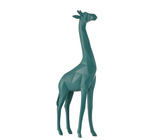 J -Line Decoration Giraffe polyester Abstract - Blue