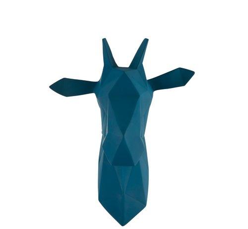 J -Line Wanddecoratie Abstract Giraf Kop Polyester - Blauw