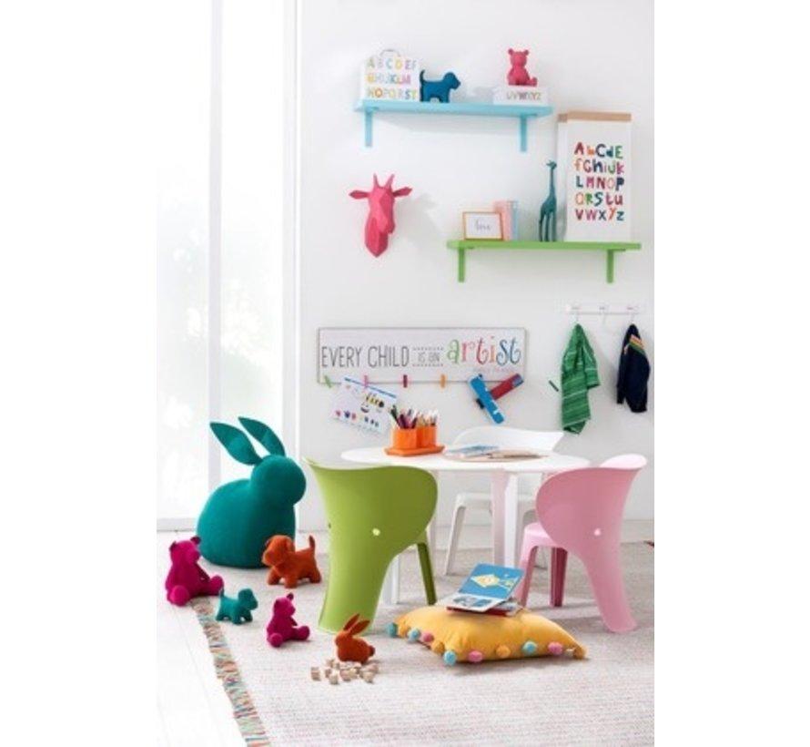 Wanddecoratie Abstract Giraf Kop Polyester - Roze