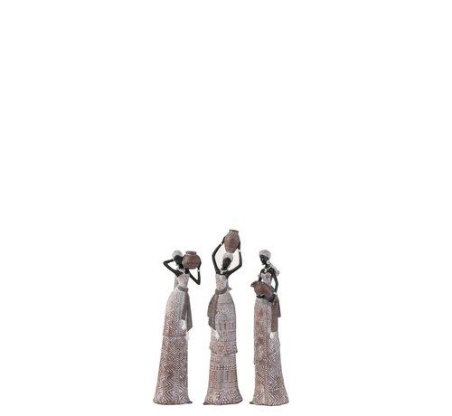 J -Line Decoratie Afrikaanse Vrouwen Etnisch Beige Zwart - Small