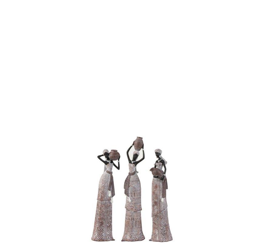 Decoratie Afrikaanse Vrouwen Etnisch Beige Zwart - Small