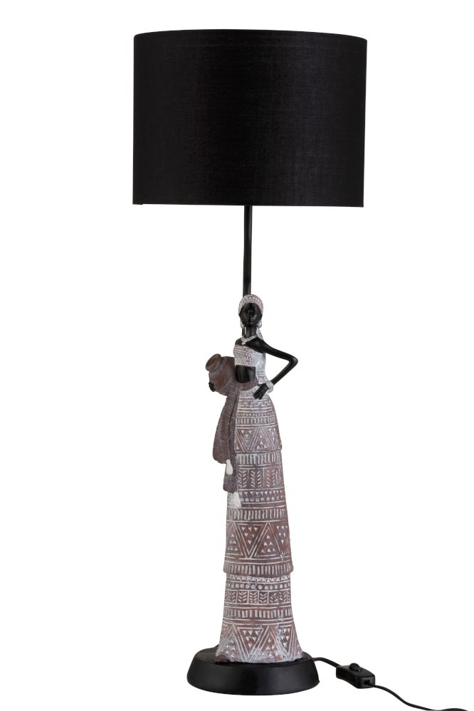 Table Lamp African Woman Ethnic Poly, African Table Lamps