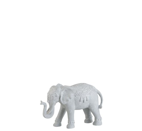 J -Line Decoratie Figuur Oosters Olifant Wit - Small