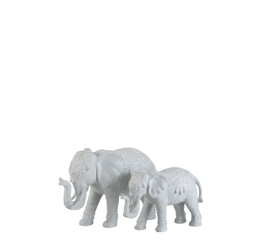 Decoratie Figuur Oosters Olifant Wit - Small