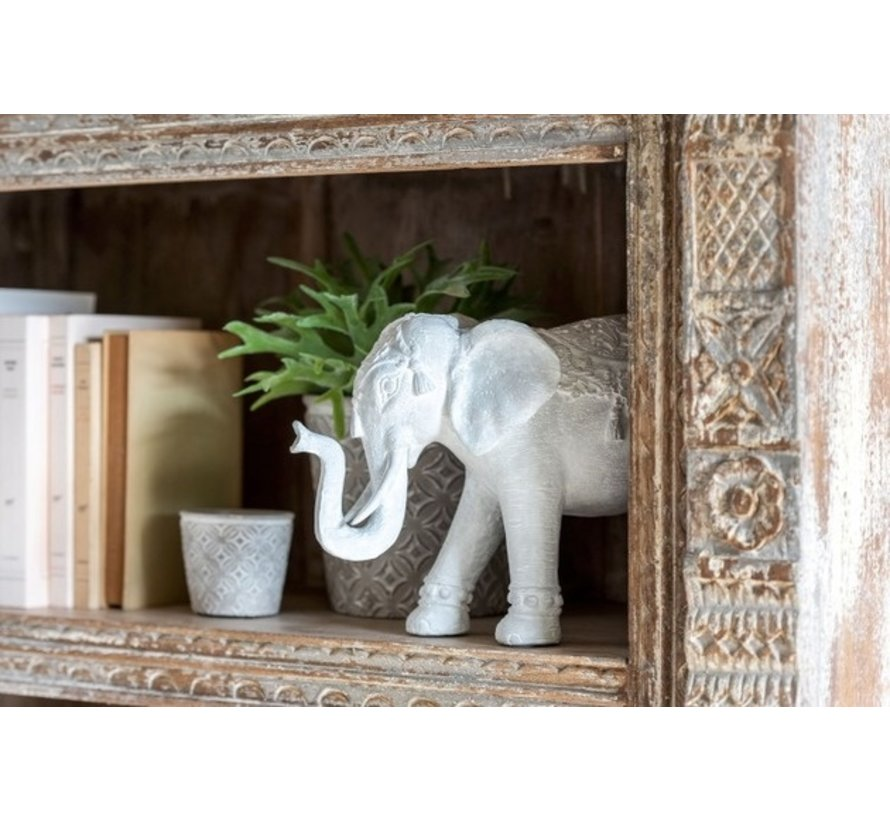 Decoratie Figuur Oosters Olifant Wit - Large