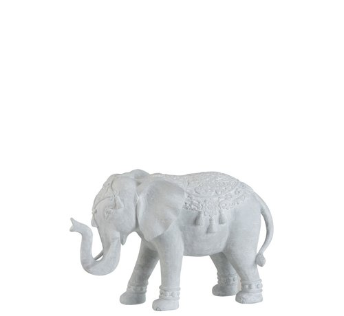 J -Line Decoration Figure Oriental Elephant White - Large