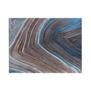 J -Line Wall decoration Painting Waves Blue Gray - Brown