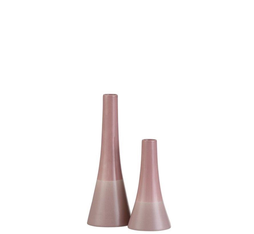 Vaas Kegel Porselein Tinten Roze - Small