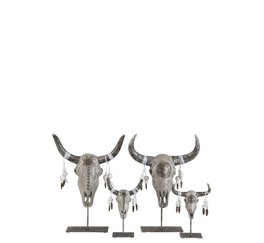 Decoration Skulls On Base Gray Silver - Small