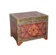 J -Line Storage case Colorful Rectangle Mango wood - Mix Colors
