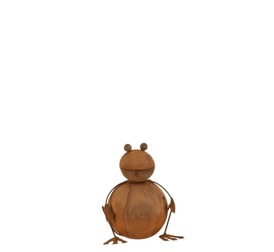 Garden decoration Frog Ironwork 3D Rust - Small