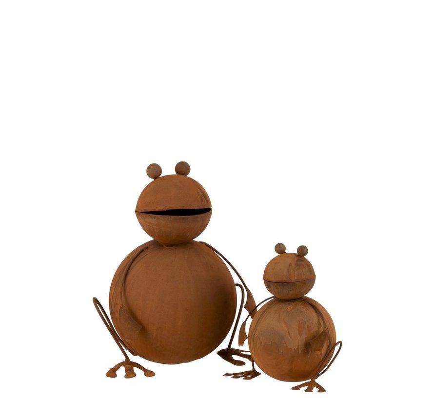 Garden decoration Frog Ironwork 3D Rust - Large