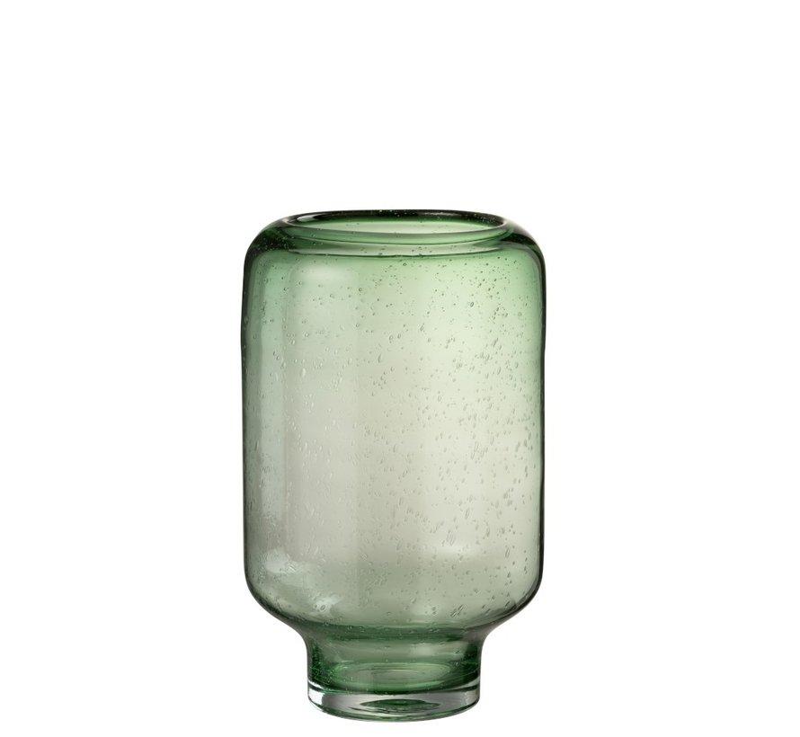 Vaas Glas Op Voet Luchtbellen Hoog Lichtgroen - Large